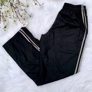 Striped Black Windbreaker Sweatpants
